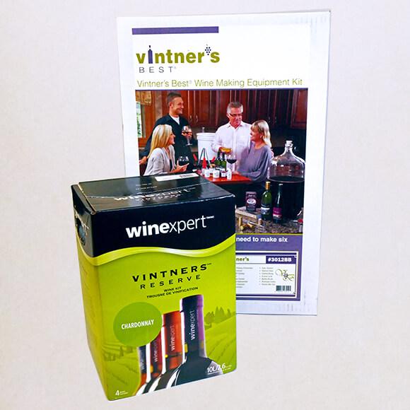Wine Equipment Kit with Chardonnay