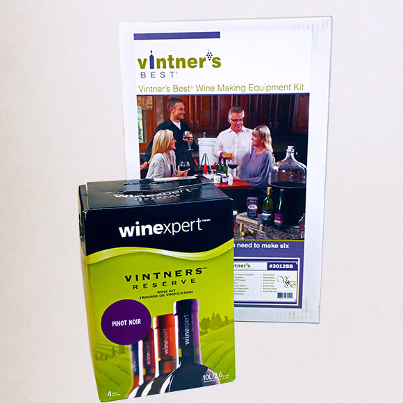 Wine Equipment Kit with Pinot Noir