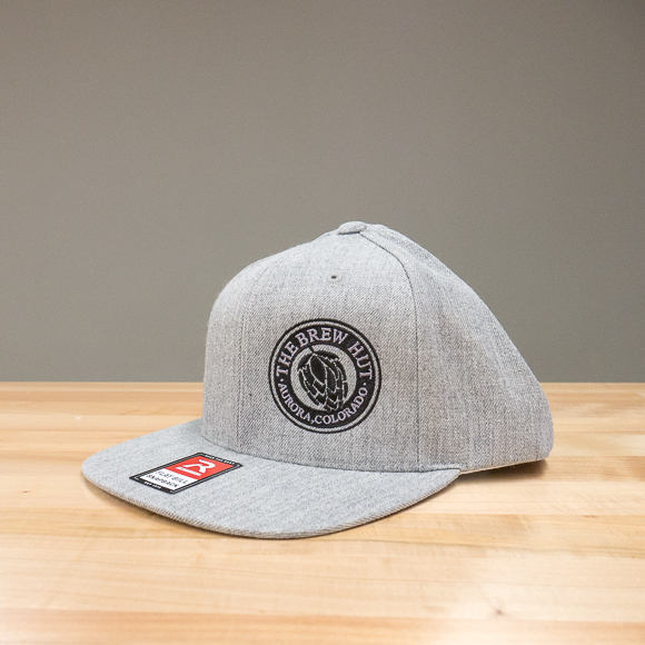 Flatbill Snap-back Hat: Grey/Wool