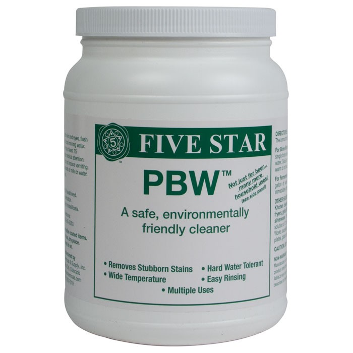 P.B.W. Powdered Brewery Wash:  4 lb.
