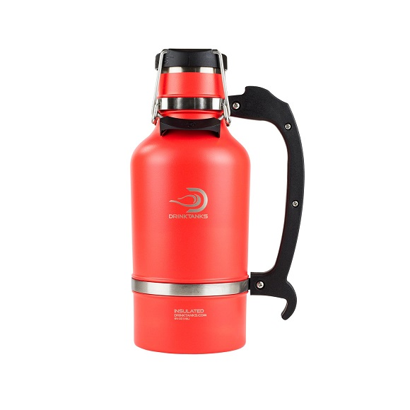 Drink Tank Growler: 64 oz. with The Brew Hut Logo
