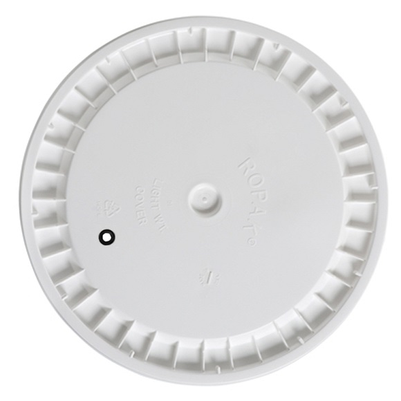 Plastic Lid Drilled for Airlock