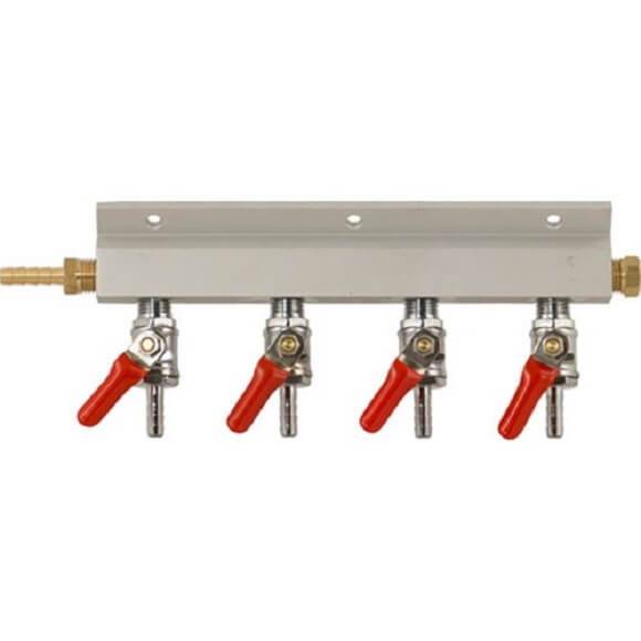 Manifold – 4 Way 1/4″ Barb