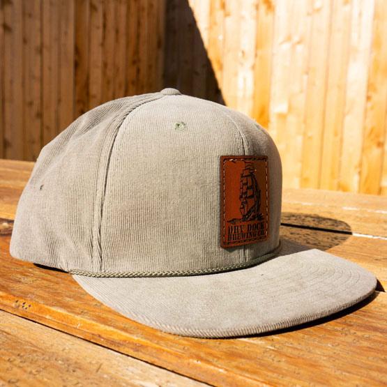 Khaki Green Corduroy Hat