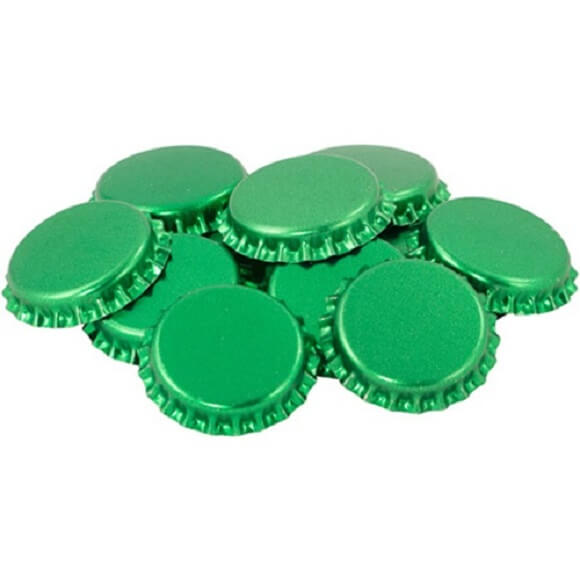 Bottle Caps: Green – 144 Pack