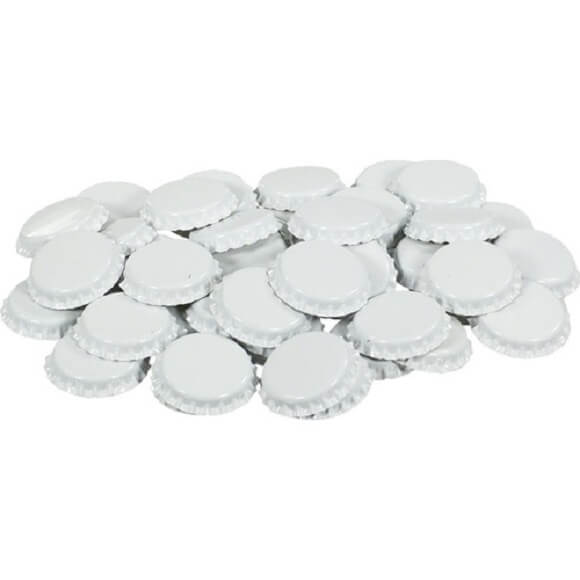 Bottle Caps: White – 144 Pack