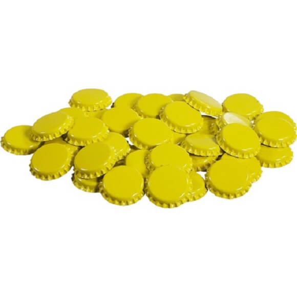 Bottle Caps: Yellow – 144 Pack