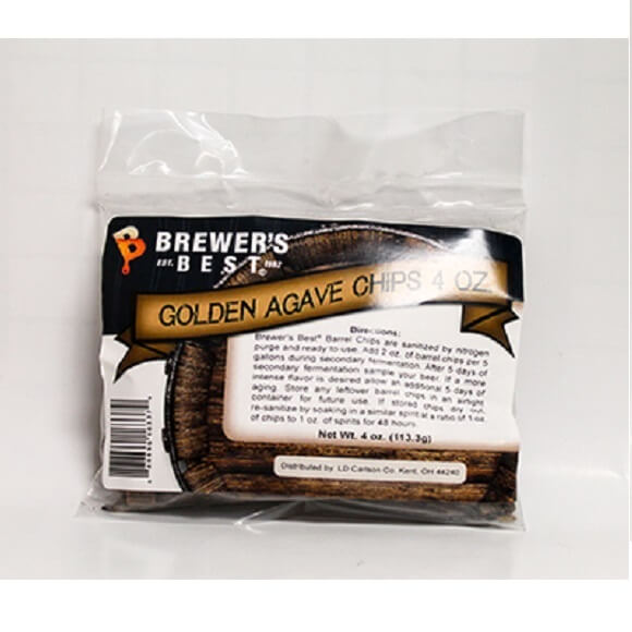 Golden Agave Barrel Chips 4 oz.