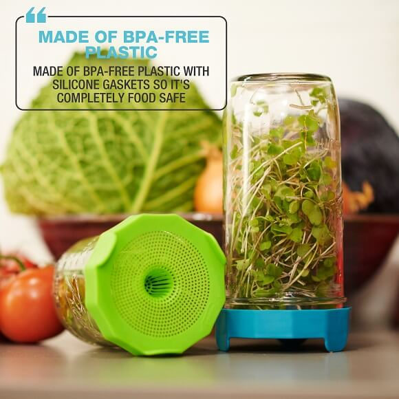 Masontops: Bean Screens Sprouting Lids (2-Pack)
