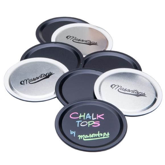 Masontops: Chalk Top Blackboard Disc Lids (8-Pack)