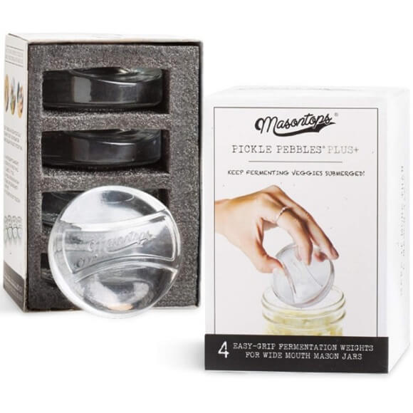 Masontops: Pickle Pebble Fermentation Weights (4-Pack)