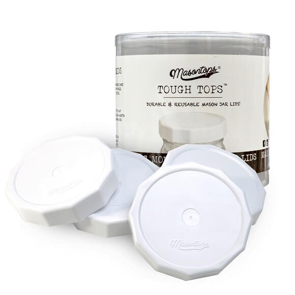 Masontops: White Tough Top Lids (4-Pack)