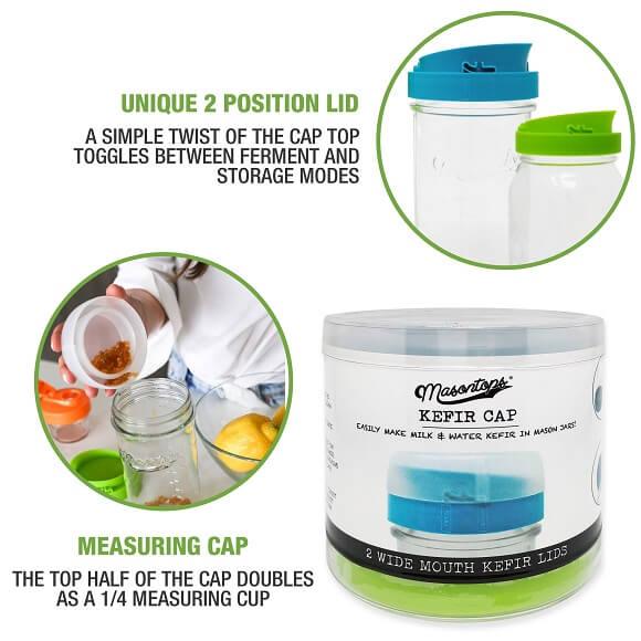 Masontops: Kefir Cap Brewing Lids (2-Pack)