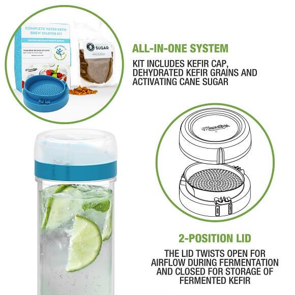 Masontops: Water Kefir Starter Kit (3-Piece)