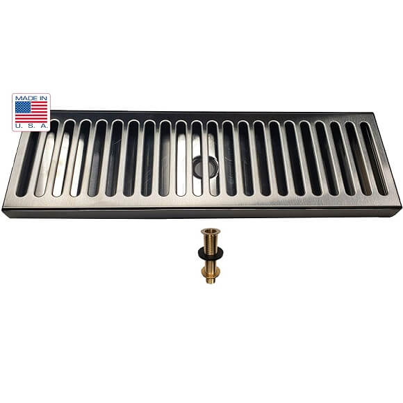 Drip Tray 16″ x 5″ Surface Mount with Drain