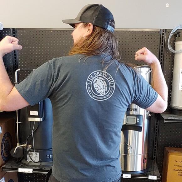The Brew Hut Grey T-Shirt