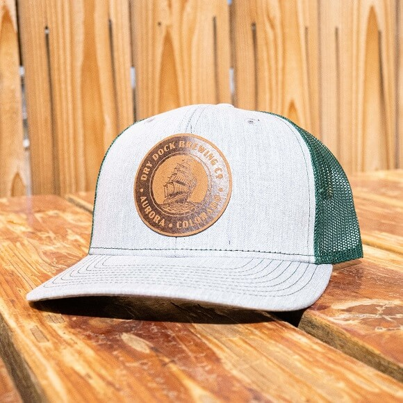 Gray and Green Cap