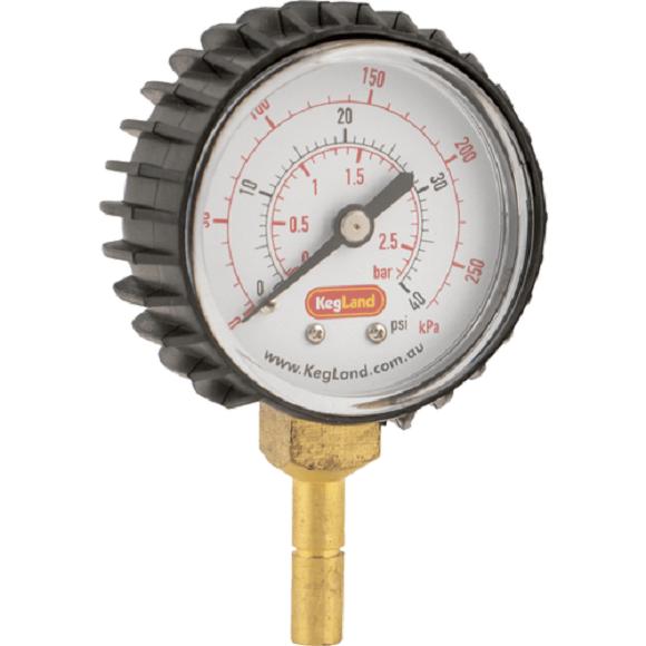 Push-In 8mm Pressure Gauge (0-40 psi)